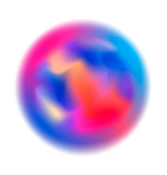 abstract colorful blurred motion in sphere shape vector image