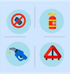 Auto transport motorist icons symbols change vector