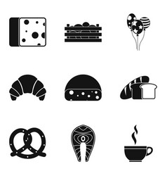 Bainty rest icons set simple style vector
