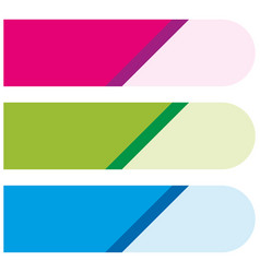 Banner template with pink green and blue vector