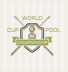 billiards championship colored emblem vector image