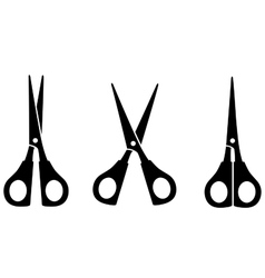 Black scissors silhouette vector