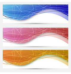 Chemical molecular web banners set vector