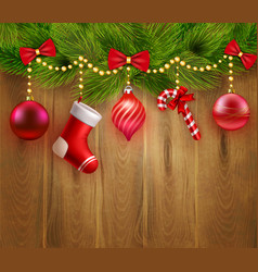 Christmas Festive Template vector image