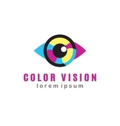 Color Vision Logo vector image