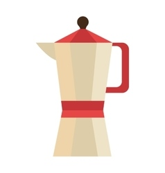 Colorful coffee pitcher graphic vector