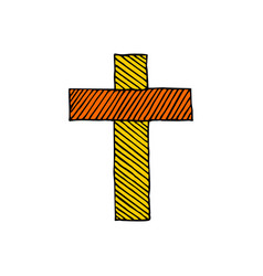cross of the lord jesus christ hand drawn vector image