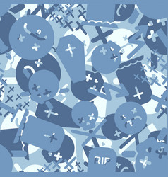 Death blue military camouflage pattern seamless vector