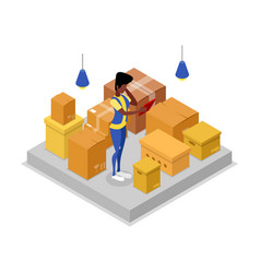 Delivery company isometric 3d icon vector