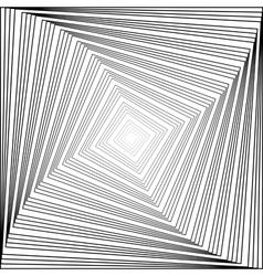 Design monochrome swirl square background vector