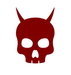 Devil skull icon on white background vector