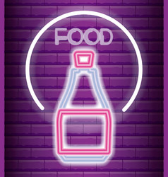 drink neon light label vector image
