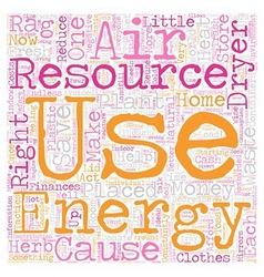 Energy Aware and Waste Wise text background vector image