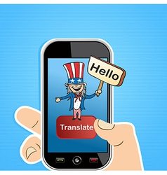 English translation app concept vector
