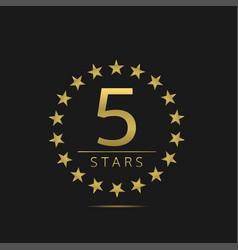 five stars label vector image