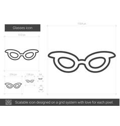 Glasses line icon vector