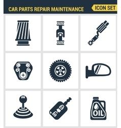 icons set premium quality car parts repair vector image