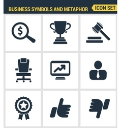 Icons set premium quality of various business vector