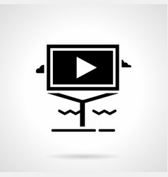 informative video advertising glyph icon vector image