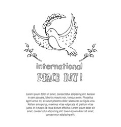 International peace day poster vector
