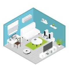 Isometrics Living Room Concept vector
