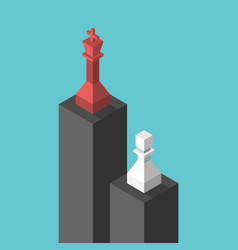 king pawn on pedestals vector image