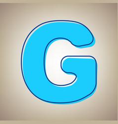 Letter g sign design template element sky vector