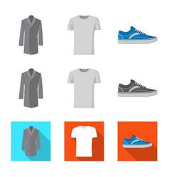 Man and clothing logo vector