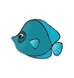 Marine fish cartoon vector