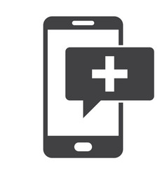 Mhealth icon vector
