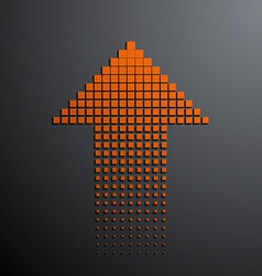 orange arrow on the gray background vector image