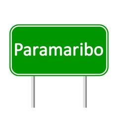 Paramaribo road sign vector