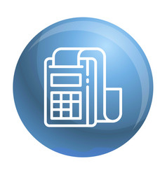 pay device icon outline style vector image