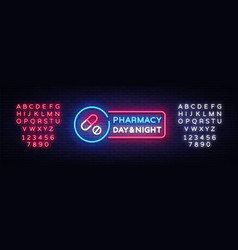 pharmacy neon signboard medical neon vector image