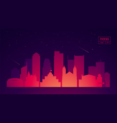 phoenix skyline with buildings vector image