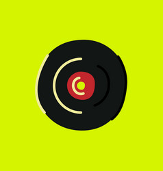 Phonograph record colored vector
