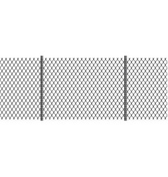 rabitz chain link fence with poles seamless vector image