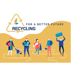 recycling for a better future - flat design style vector image