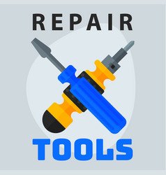 repair tools screwdriver icon creative graphic vector image
