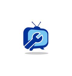 service tv station logo vector image