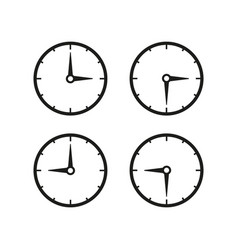 set of time clocks icons vector image