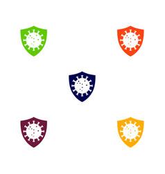 Shield guard from coronavirus design vector