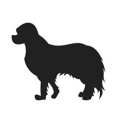Spaniel Black Silhouette vector image