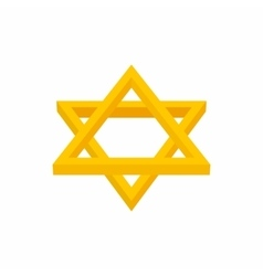 Star of David icon cartoon style vector image