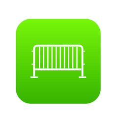 steel barrier icon digital green vector image