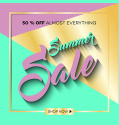 Summer sale background with tropical palm leaves 9 vector
