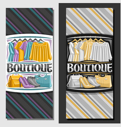 templates for boutique vector image