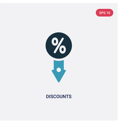 two color discounts icon from signs concept vector image