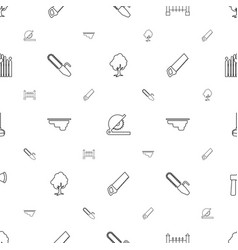Wood icons pattern seamless white background vector