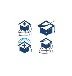 world education template set vector image